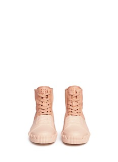 both 橡胶涂层绒面马皮高筒运动鞋