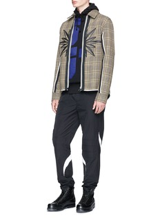 Tim Coppens Check plaid virgin wool coach jacket