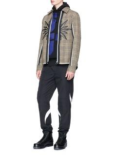 Tim Coppens Check plaid virgin wool coach jacket
