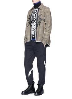 Tim Coppens 'Acid' jacquard wool turtleneck sweater