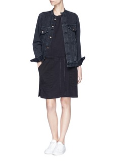 James Perse Twill patch garment dyed sweatshirt dress
