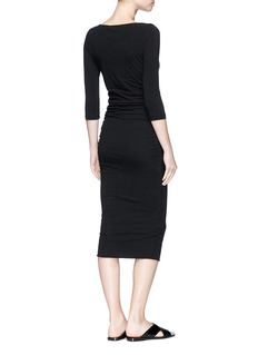 James Perse Double layered shirred bodycon dress