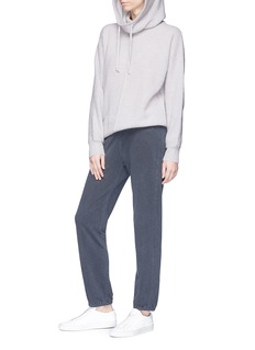 James Perse Mock neck cashmere hoodie