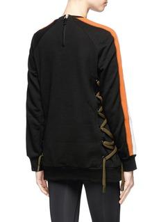 No Ka'Oi 'Nula' lace-up outseam colourblock sweatshirt