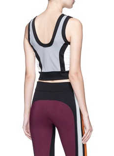 No Ka'Oi 'Lepo' colourblock cropped performance top