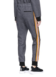 No Ka'Oi 'Pahi' stripe outseam melton track pants