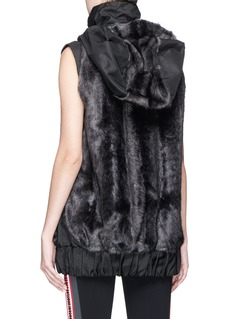 No Ka'Oi 'U'I' faux fur panelled sleeveless hooded jacket