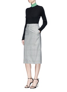 CALVIN KLEIN 205W39NYC Brooke Shields patch colourblock turtleneck sweater