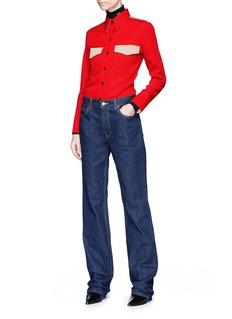 CALVIN KLEIN 205W39NYC Colourblock marching band uniform shirt