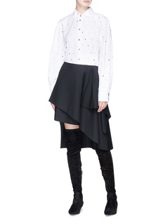 Jourden Strass embellished cotton poplin shirt