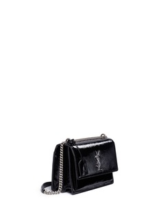Saint Laurent 'Sunset' medium patent leather shoulder bag
