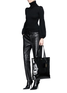 Saint Laurent 'Noe' Moroder leather flat shopper tote