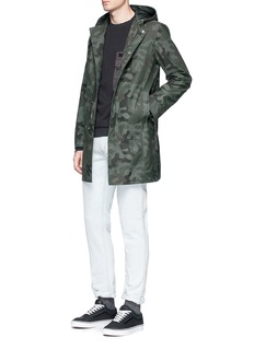 The Editor Camouflage print hooded twill parka