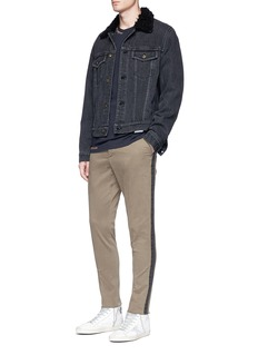The Editor Stripe outseam slim fit chinos