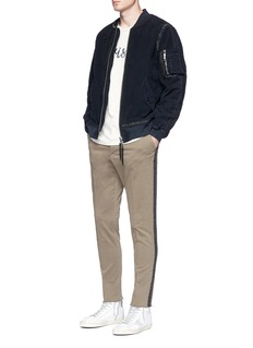 The Editor Ladder stitch padded bomber jacket