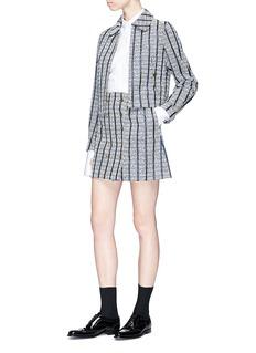 Thom Browne Stripe tweed wrap skirt