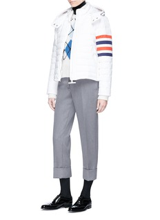 Thom Browne Argyle intarsia cashmere rib knit sweater