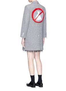 Thom Browne 'No Dress' mink fur patch wool melton coat