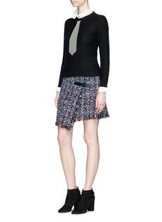Sonia Rykiel Trompe-l'œil stripe tie sweater