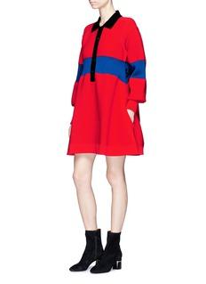 Sonia Rykiel '175 SAINT GERMAIN' slogan mixed knit dress