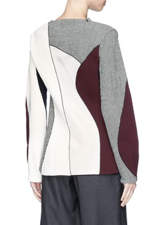 Victoria Beckham Colourblock mixed knit panelled sweater