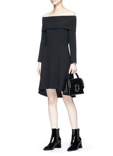 Theory 'Elegant' Off-shoulder crepe dress