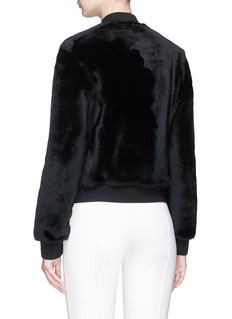 Theory Reversible lambskin shearling bomber jacket