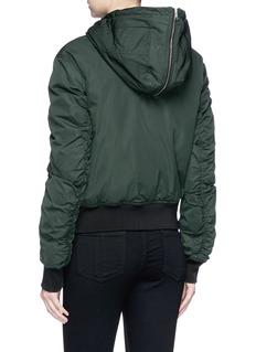 Theory 'Baietta' lambskin shearling hood bomber jacket