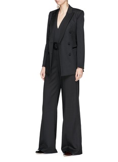 Theory Belted crepe wide leg jumpsuit