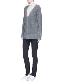 Theory High waist cotton-blend jersey leggings