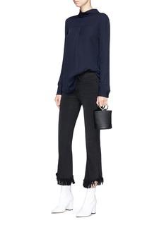 Theory Backwards silk blouse