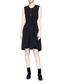 Theory 'Desza B' belted stretch crepe dress