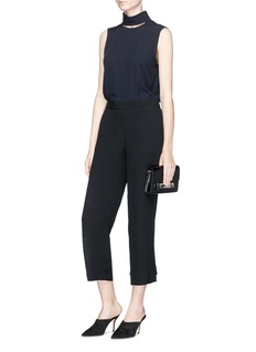 Theory Convertible button cuff crepe pants