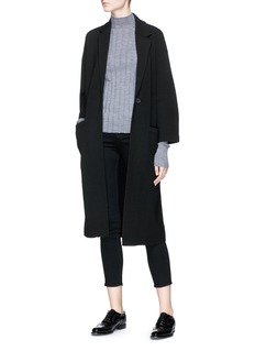 Theory Mock neck wool rib knit sweater