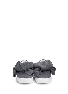 JOSHUA SANDERS KIDZ 儿童款蝴蝶结毛毡厚底便鞋