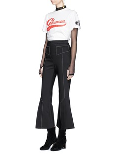 YCH 'Glamour' print vintage patch T-shirt