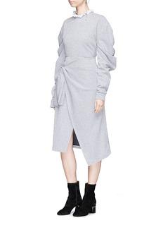 YCH Mock wrap metallic skirt