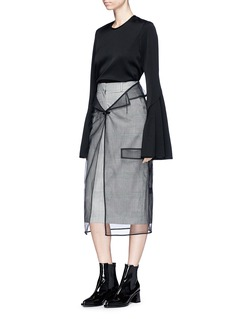 YCH Sheer tulle pencil skirt