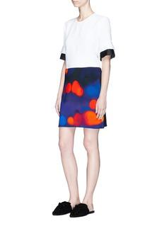 VICTORIA, VICTORIA BECKHAM Dot print jersey skirt