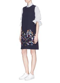 VICTORIA, VICTORIA BECKHAM Paillette embellished crepe shift dress