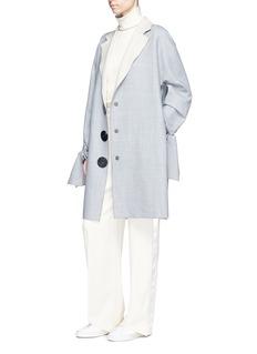 VICTORIA, VICTORIA BECKHAM Tie cuff oversized coat