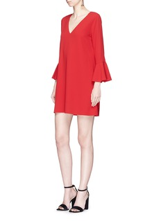 alice + olivia 'Tameika' trumpet sleeve cady mini dress