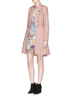 alice + olivia 'Rossi' virgin wool blend melton military coat