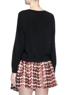 alice + olivia 'Bao' strass embellished slogan wool sweater