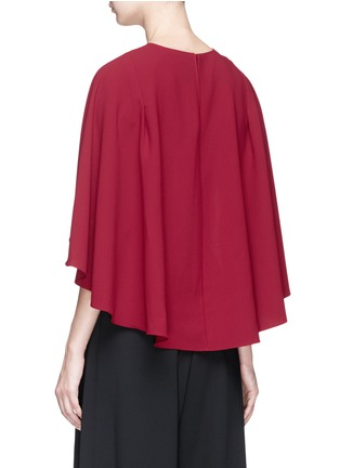 Figure View - Click To Enlarge - alice + olivia - 'Babette' cape back overlay cropped crepe top