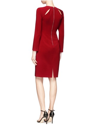 Figure View - Click To Enlarge - alice + olivia - 'Scottie' cutout yoke crepe cady dress