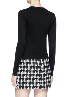 alice + olivia 'Emory' lip pocket wool cardigan