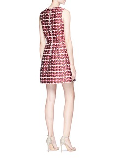 alice + olivia 'Patty 'heart jacquard lantern dress