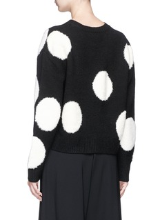 alice + olivia 'Gleeson' polka dot cropped sweater