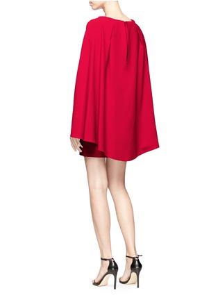 Figure View - Click To Enlarge - alice + olivia - 'Neely' cape back overlay crepe cady dress